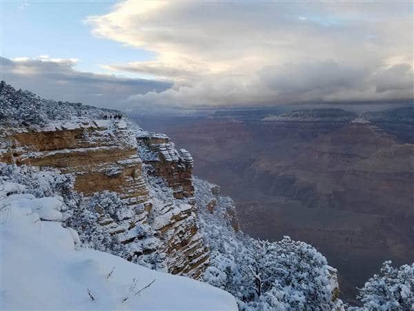Photos taken at the Grand Canyon on Dec. 25, 2016. Courtesy Alfredo Melchor Diaz