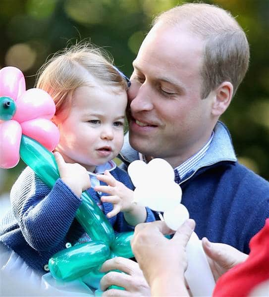 Prince William with his daughter, Princess Charlotte. Chris Jackson / Getty Images