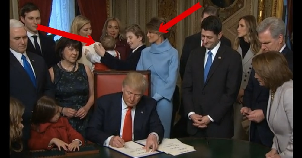 Baron Trump Already Stealing America's Hearts After He Was Caught Doing This At Signing