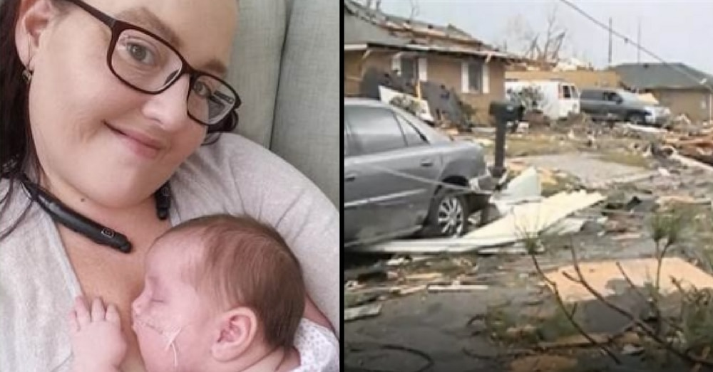 Mom Fears For Baby's Life When Tornado Rips Through. What She Does Next Is Incredible