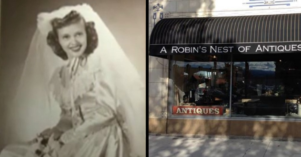 She Spots Mom's Wedding Photo In Window, Then Sees Something Inside That Makes Her Scream