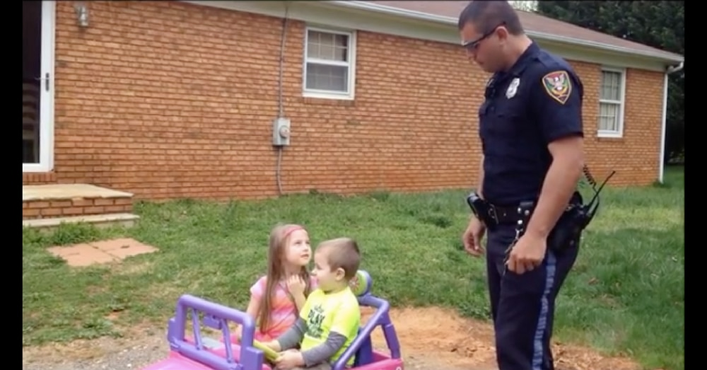 Cop Dad Pulls Kids Over In Toy Car. What They Do Next? I Was Not Expecting That!