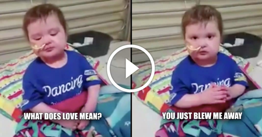 Mom asks sick daughter what 'Love' is. Toddler's answer leaves her in tears…