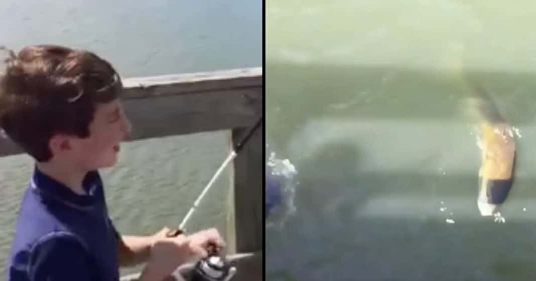 Dad Grabs Camera As Son Reels In Big Catch, But What Happens Next…Holy Moly!