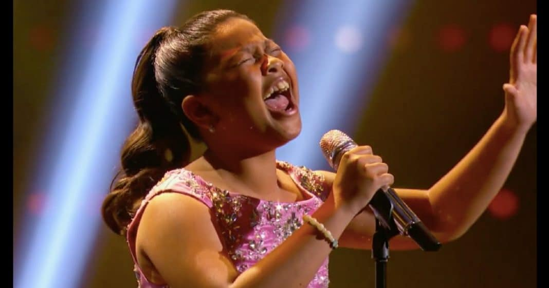 12-Year-Old Steps Up To Mic. When She Opens Her Mouth Crowd Is Speechless