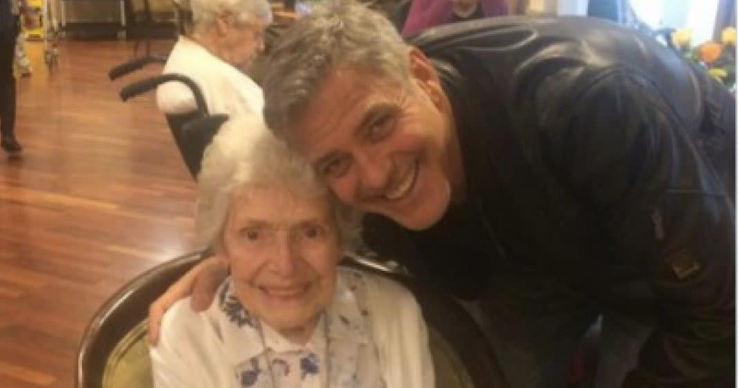 The Reason George Clooney Just Visited This 87-Yr-Old Woman Is Just Too Cute For Words