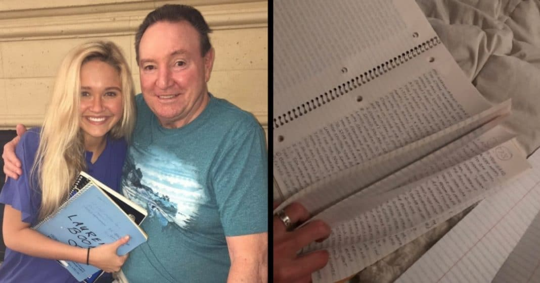 G'pa Hands Her 3 Notebooks On 16th Bday. When She Starts Reading… Immediate Tears!