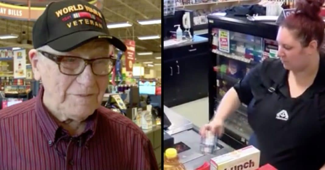 WWII Vet Stunned After Woman Stops Him In Line. Now He's Looking For His 'Angel' In Disguise…