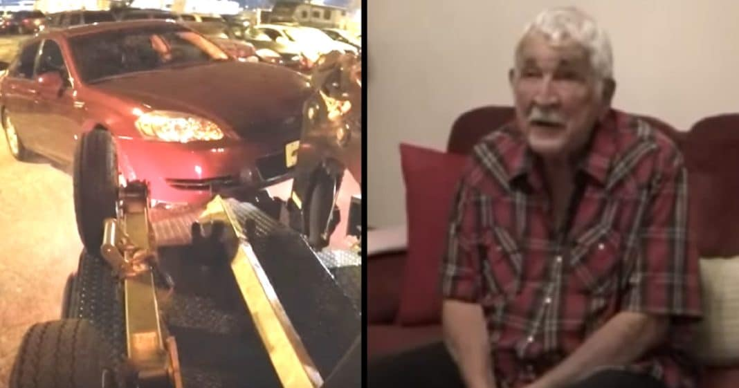 Repo Man Comes To Claim Elderly Vet's Car, But No One Expected What He Does Instead