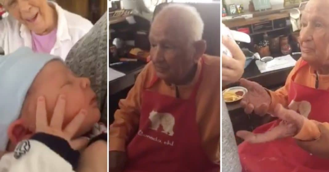 105-Yr-Old Holds Great-Grandson For First Time, And His Reaction Will Melt Your Heart