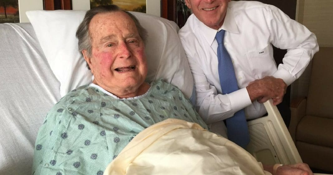 George HW Bush Gets Big Morale Boost From Special Visitor As He Recovers In Hospital