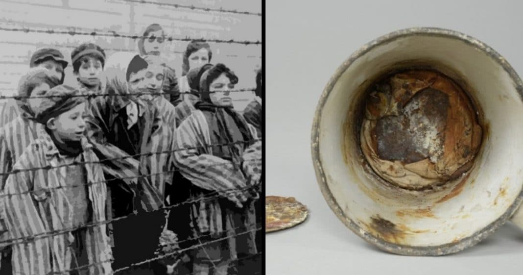 He Discovers Mug Buried At Auschwitz, Then X-Ray Reveals Its Secret…