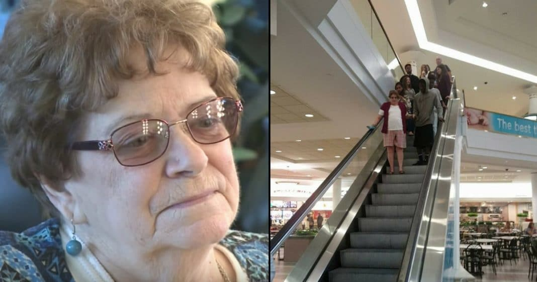 Shoppers Shove G'ma, Tell Her To Get Out Of Way. Then She Feels Someone Grab Her Hand..