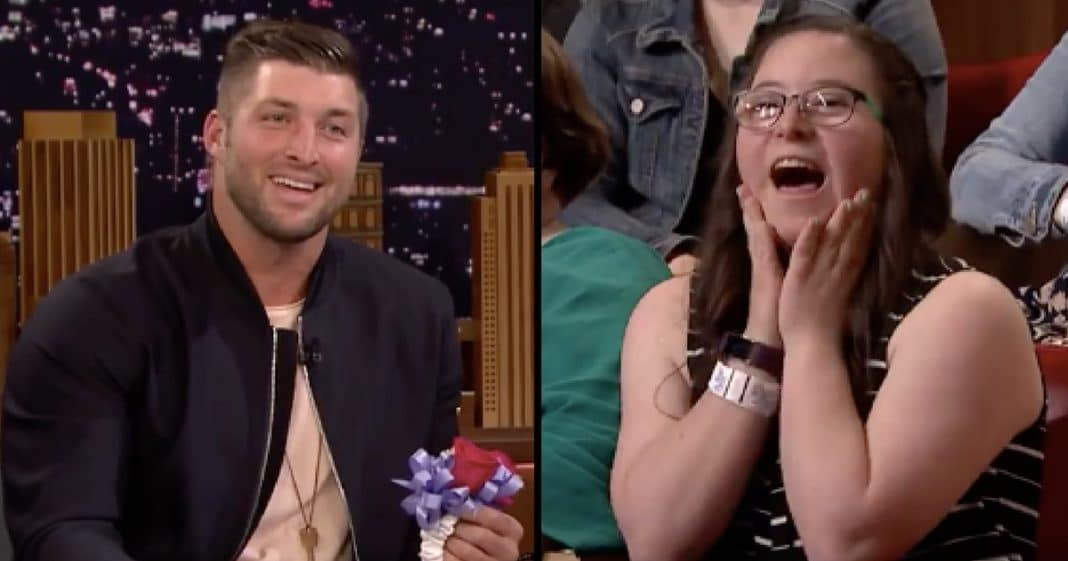 Tim Tebow Visits The Tonight Show, Gives Special Needs Fan The Surprise Of A Lifetime