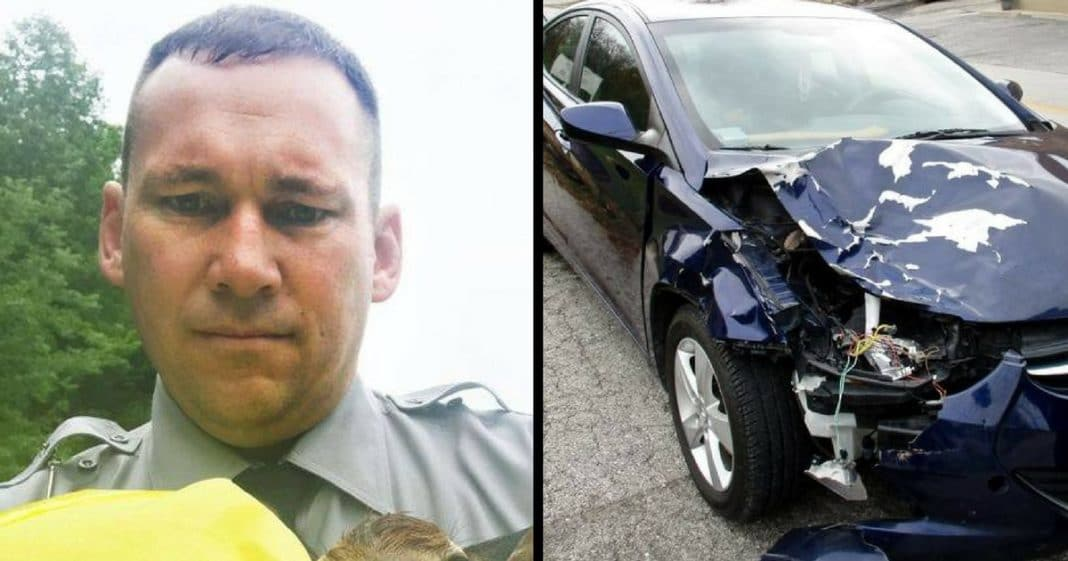 Cop Responds When Deer Slams Into Car, But Then He Makes Unexpected Find In Ditch