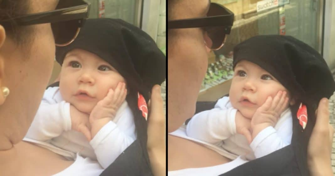 This Baby's Sweet Reaction When Her Mom Starts Singing Made My Heart Melt