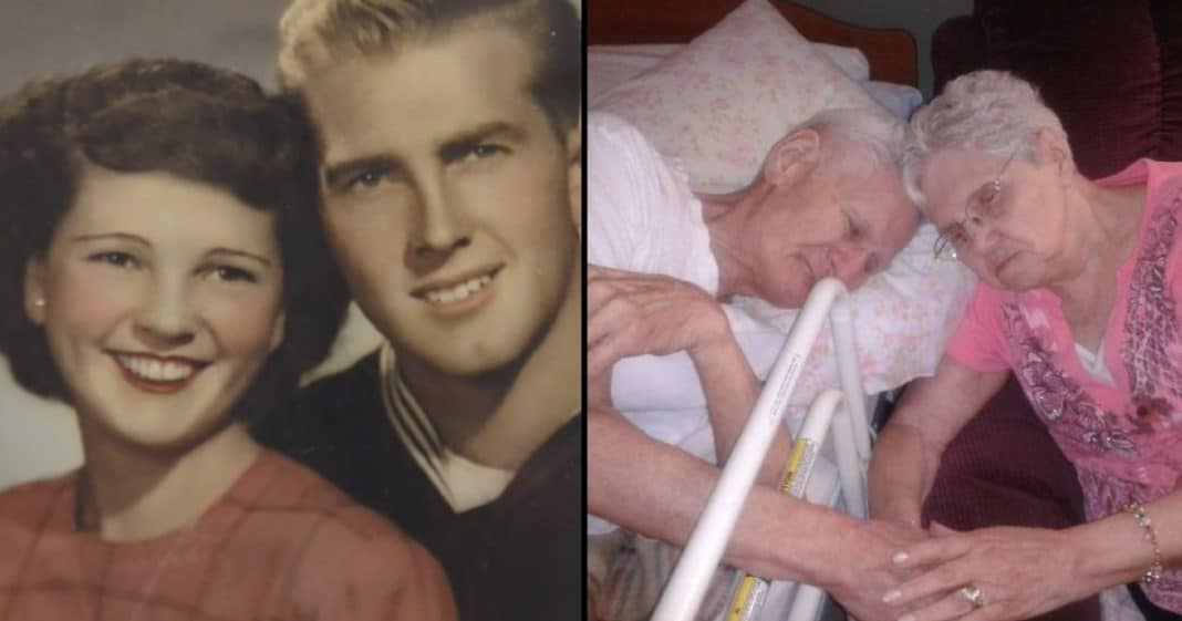 After 67 Yrs Of Marriage, Wife Holds Husband's Hand As He Takes Final Breath. Hours Later She Passes Away