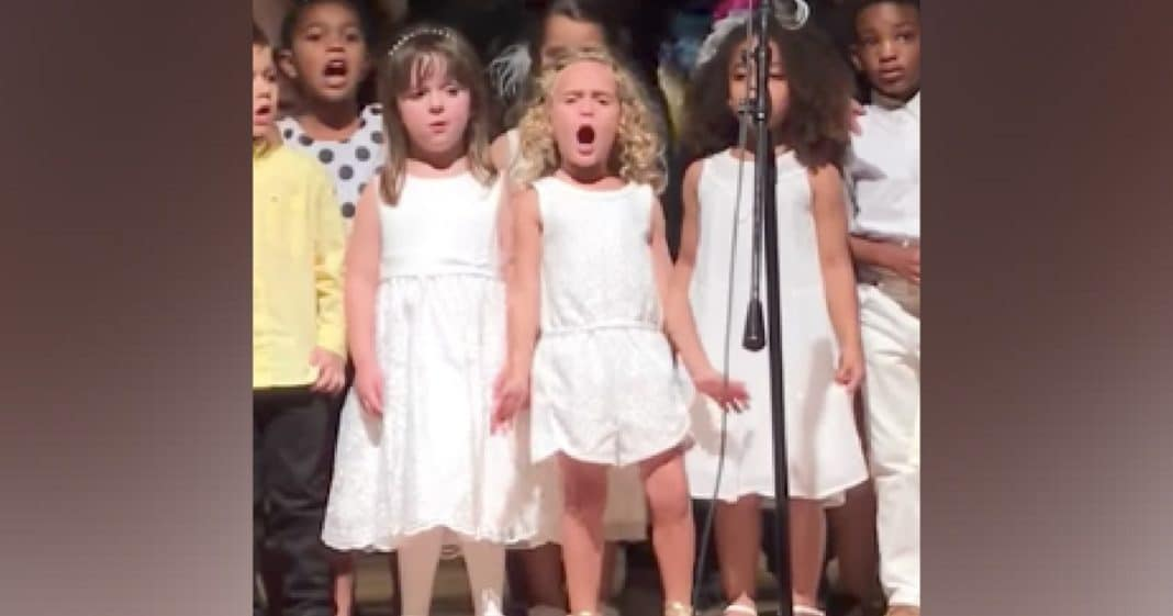 Kids Line Up To Sing For Graduation, But Keep Your Eye On The Girl In The Middle…