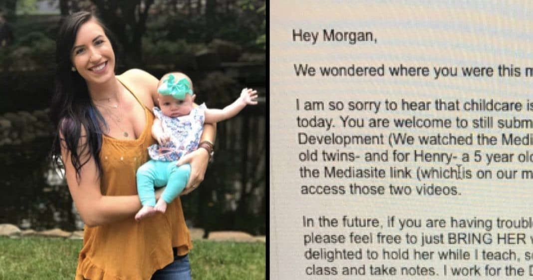 Student Misses Class To Care For Baby, Then Professor Sends Note Home That Leaves Her In Tears