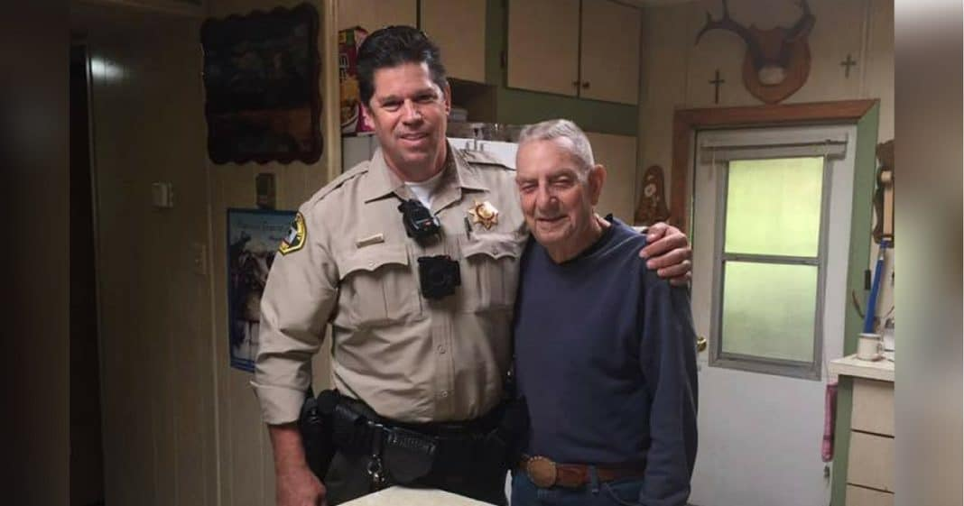 91-Yr-Old Vet All Alone After Wife Dies, Then Cop Shows Up At Door With Mysterious Box