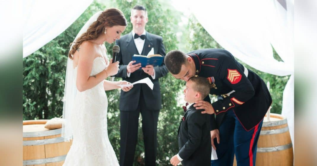 Bride Writes Special Vows For New Stepson. His Reaction Has Everyone In Tears