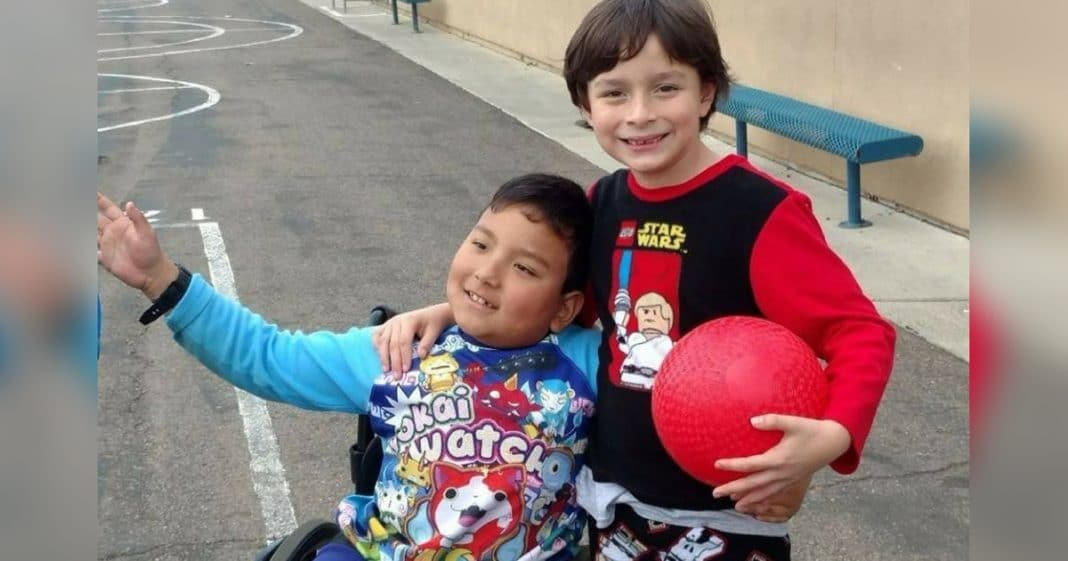 8-Yr-Old Can't Afford Proper Wheelchair, Then Best Friend Takes Matters Into His Own Hands
