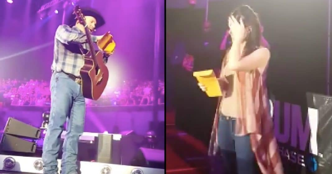Couple Asks Garth Brooks To Read Gender Reveal, But Surprise Gift Leaves Mom In Tears