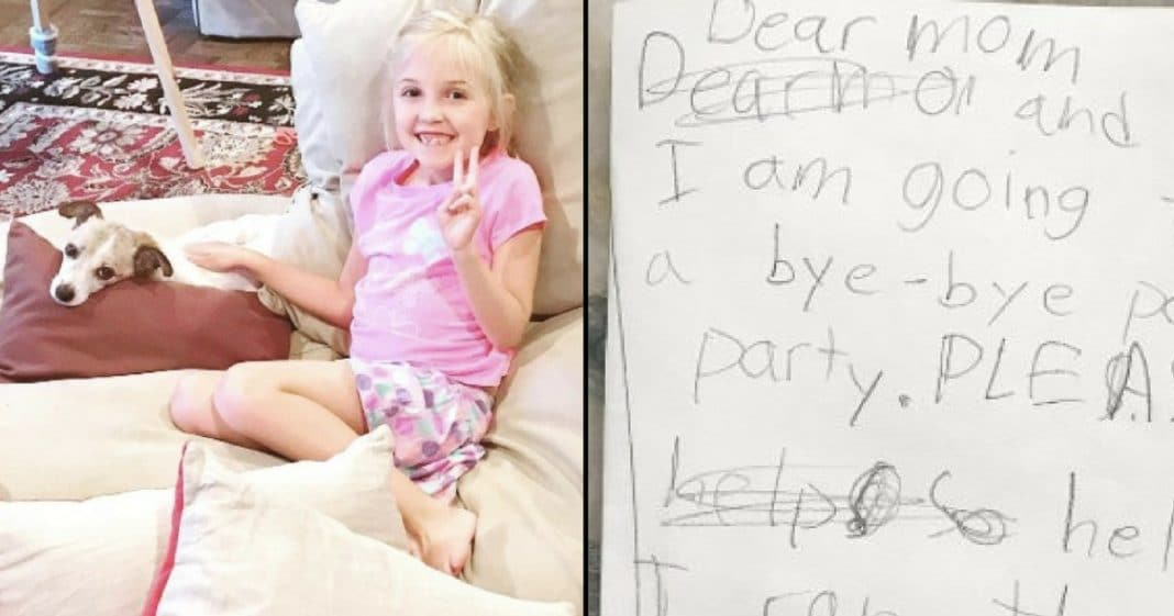 Mom Tells Daughter Foster Dog Won't Make It, Then Finds Note That Leaves Her In Tears