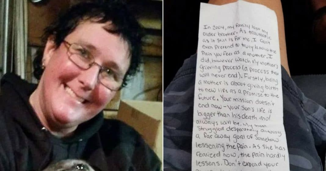 Grieving Mom Flies Home To Bury Son, Then Flight Attendant Passes Note That Leaves Her In Tears