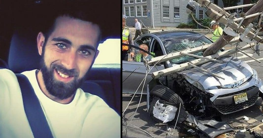 Man Knows He's Gonna Die After Horrific Car Crash, But This 'Angel' Won't Leave His Side