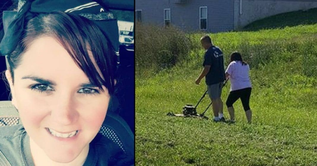 'Lazy' Husband Watches As Wife Mows Lawn. Then Neighbor Learns Truth, Breaks Down In Tears