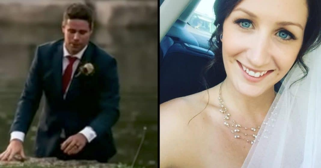 Bride Confused When Groom Jumps Into Lake, But When She Sees Why Her Heart Melts