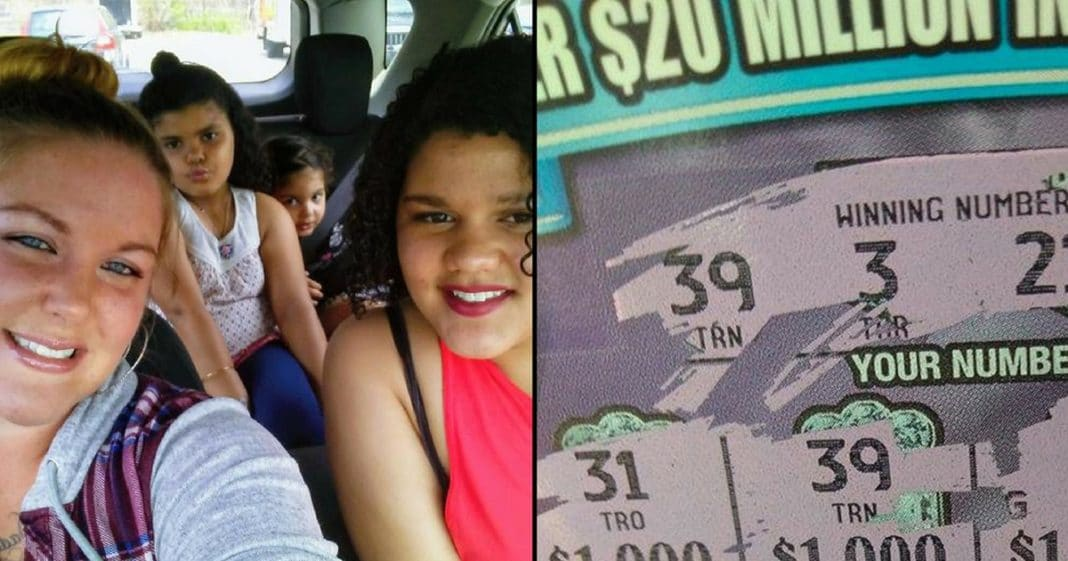 Mom Buys Lotto Ticket On Way Out Of Town, Whole Car Starts Screaming When She Sees What It Says
