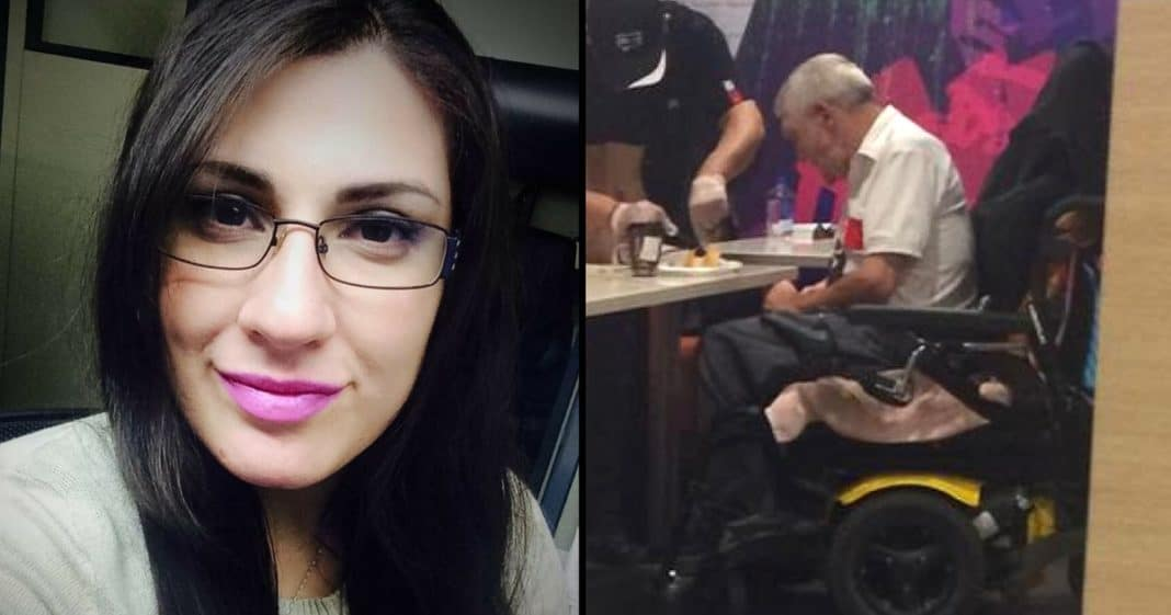 She's Confused When Elderly Man Cuts In Line, Then He Whispers 3 Words That Leave Her Sobbing