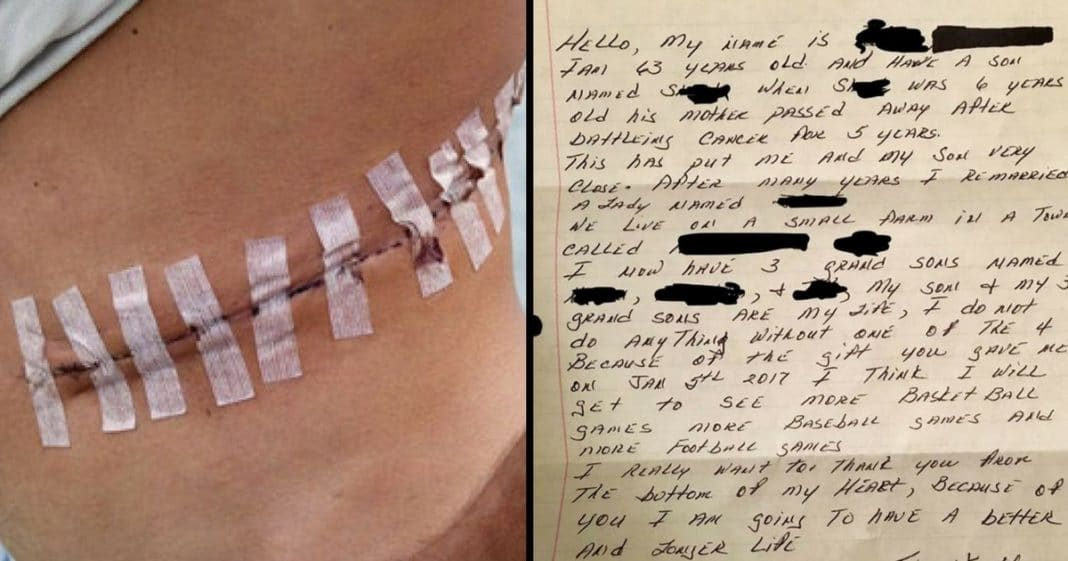 Man Donates Kidney To Total Stranger. 3 Months Later Finds Letter That Leaves Him In Tears