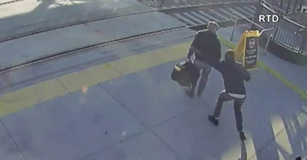 Blind Man Stunned When Stranger Grabs Him From Behind. Seconds Later Realizes He Just Saved His Life