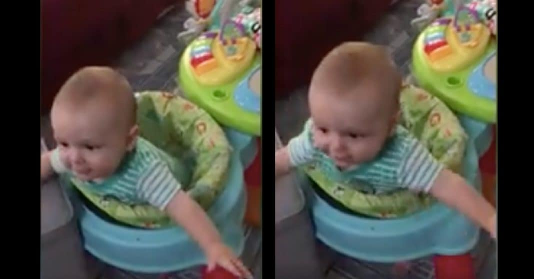Baby Calls For 'Mama', But When Dad Sees Who He's Talking To Immediately Starts Cracking Up