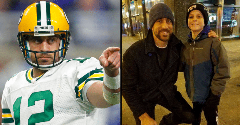 11-Yr-Old Takes Photo With Aaron Rogers, Then NFL Star Tracks Him Back Down