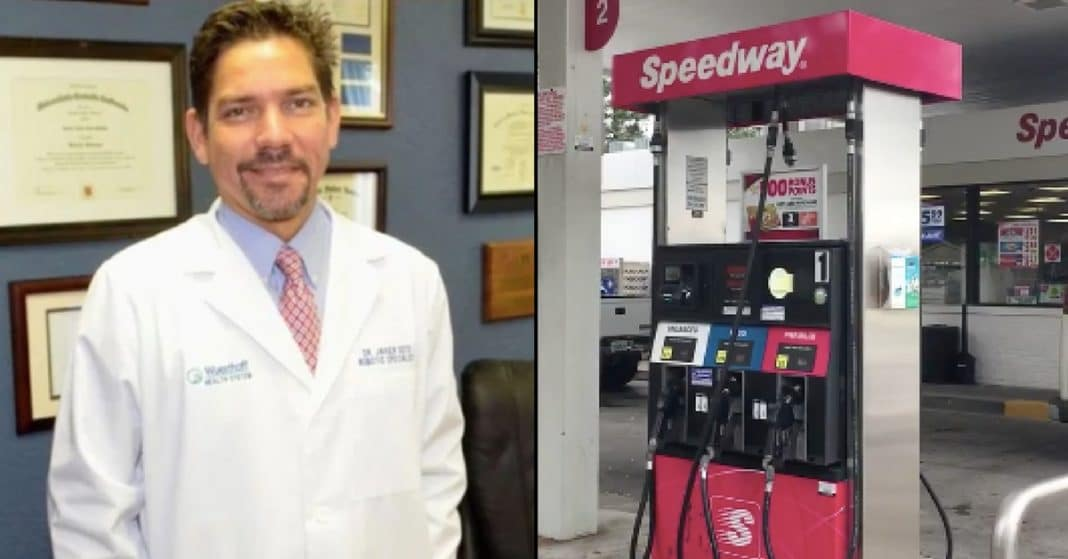Man Flags Doctor Down At Gas Station. When He Opens Car Door He Can't Believe His Eyes