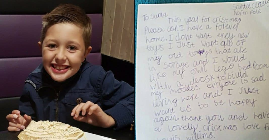 Homeless 9-Yr-Old Writes Letter To Santa. His 1 Christmas Wish Will Break Your Heart