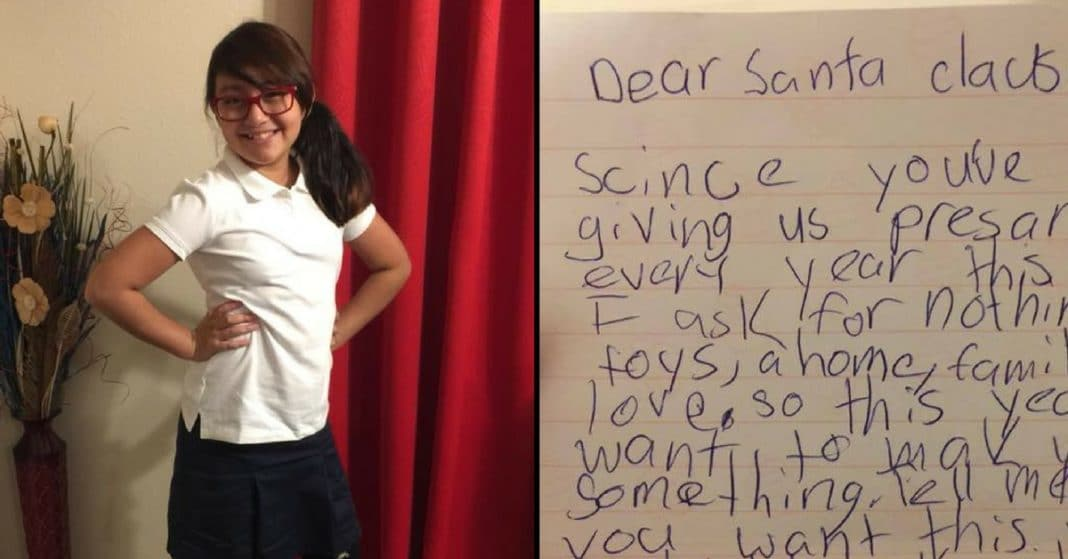 Mom Finds Daughter's Letter To Santa. When She Sees What She Asked For Breaks Down Sobbing