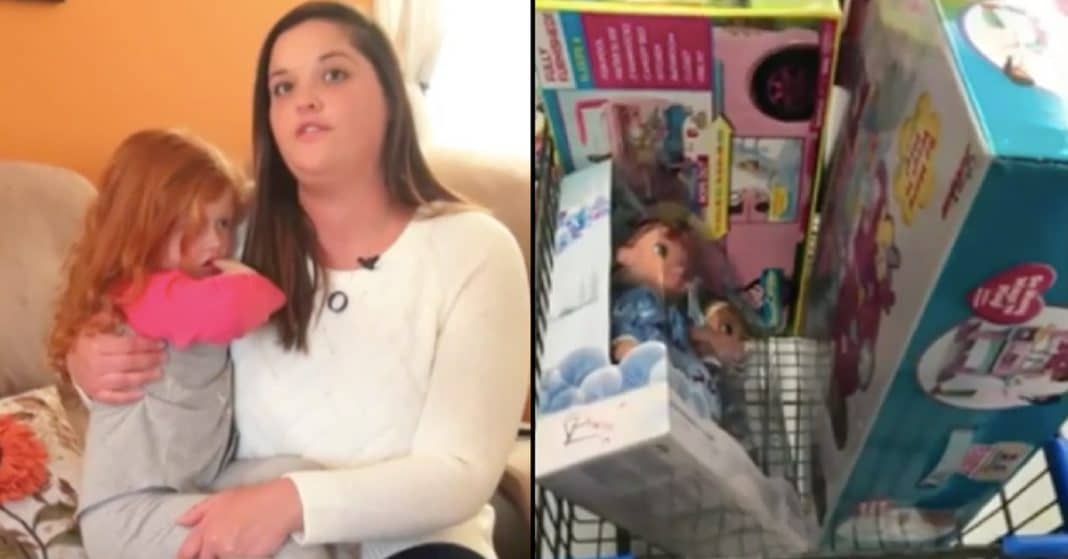 Widowed Mom Can't Afford Christmas Presents. What Stranger Does Next Leaves Her Sobbing