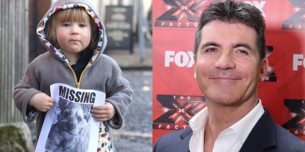 Simon Cowell proves he does have a heart as he reunites lost puppy with age 2 boy