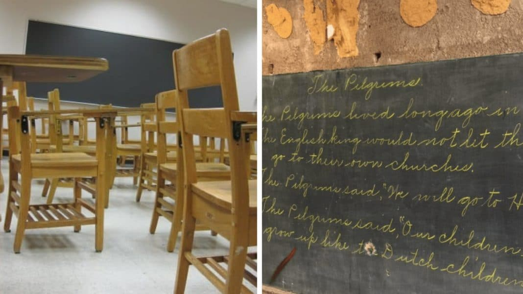 School Officials Have Old Chalkboards Removed, But 100-Yr-Old Surprise Is Hiding Beneath Them