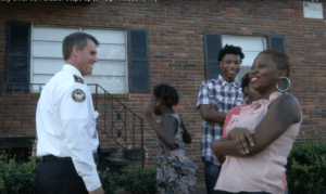 Police Chief with Rhodes family