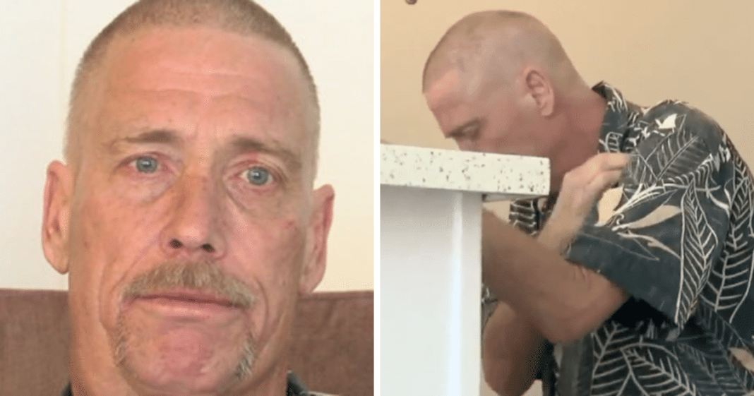 Veteran left with empty apartment after chemo treatments, drops to his knees when strangers show up