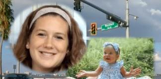 Jessica Raubenolt and daughter Lillia on Bayshore Boulevard, Tampa