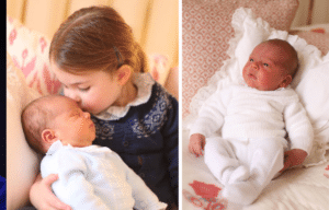 Princess Charlotte with Prince Louis