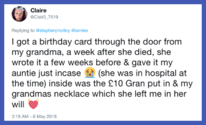 Story from a woman named Claire