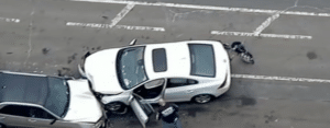 The scene of the crash in Brooklyn